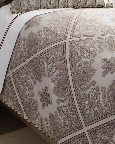 Dian Austin Couture Home Queen Paisley Parquet Duvet