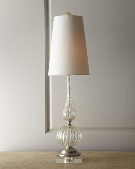 Clear Venetian-Style Glass Lamp