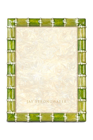 "Jay Strongwater Striped 5"" x 7"" Picture Frame"