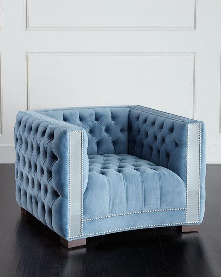 Manhattan Mirrored-Trim Chair