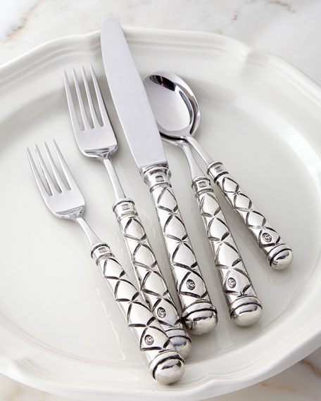 Neimanmarcus 5-Piece Marchesa Pewter Flatware Place Setting