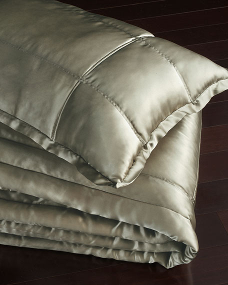Donna Karan Home European Collection Quilted Silk Sham