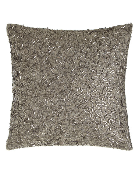 "Metallic Beads Pillow, 12""Sq."