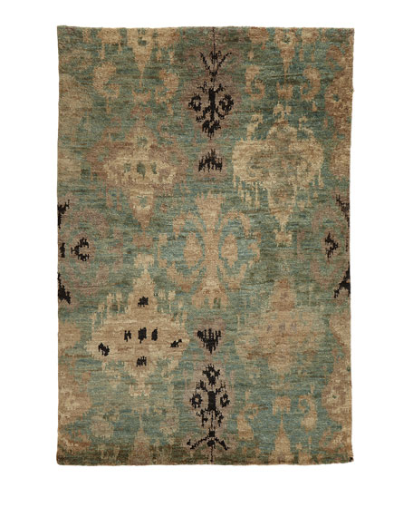 """Majesty Hand Knotted Jute Rug, 7.9"""" x 9.9"""""""
