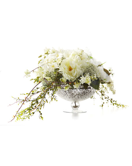 Cascading Bouquet Faux-Floral Arrangement
