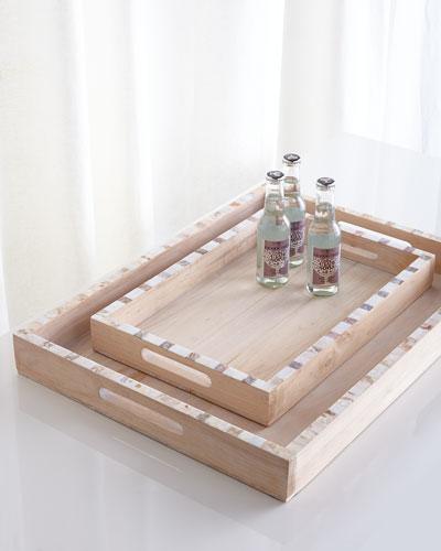 Neimanmarcus Largo Rectangular Trays, 2-Piece Set