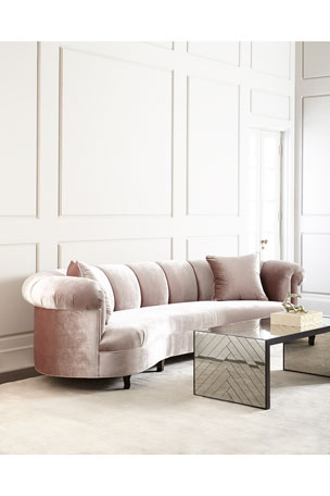 Haute House Audrey Channel-Tufted Sofa 90""