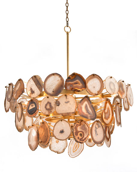 Agate Sliced 15-Light Chandelier