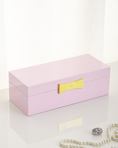 Pink Rectangular Jewelry Box