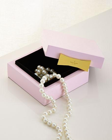 Pink Square Jewelry Box
