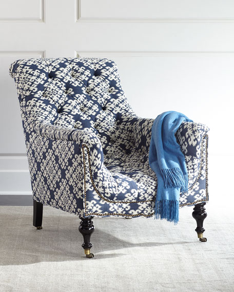 Old Hickory Tannery Levi Tufted Sway-Back Chair