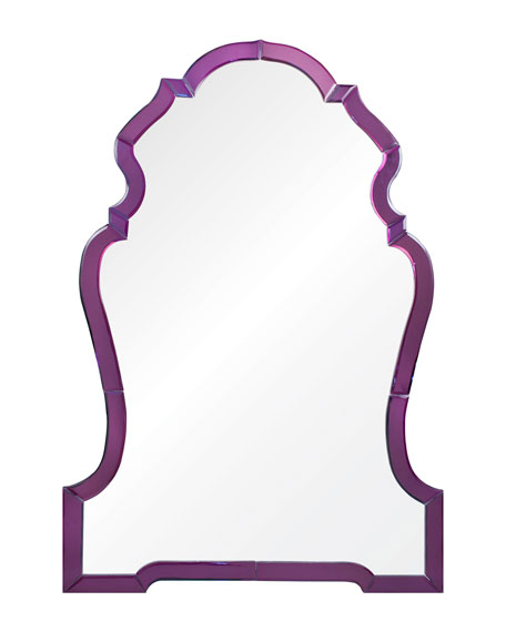 Payton Purple Chippendale-Style Mirror