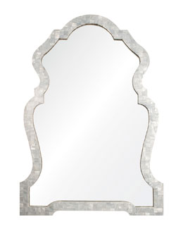 Rianna Mother-of-Pearl Chippendale-Style Mirror