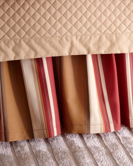 Queen San Marino Stripe Dust Skirt