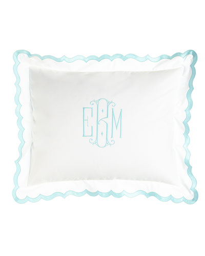 King Peighton Sham with Monogram