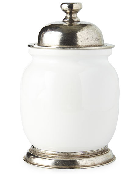 Small Ceramic & Pewter Canister