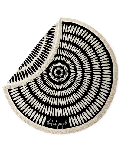Tulum Round Beach Towel