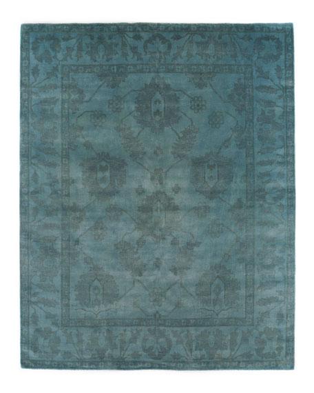 Exquisite Rugs Demas Blue Oushak Rug, 8' x