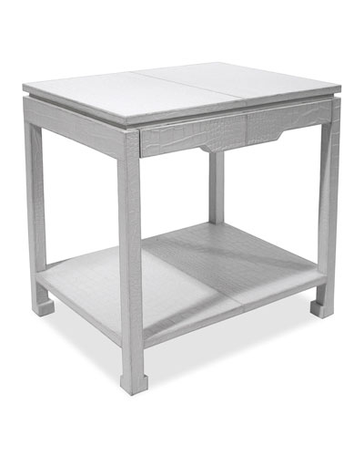 Preston White Side Table
