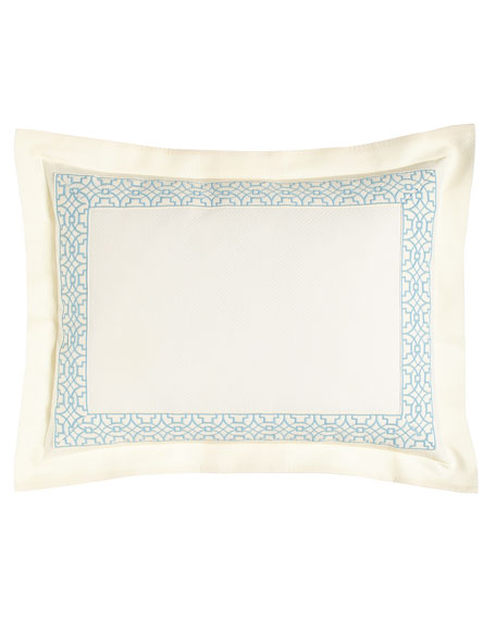 King Dakota Sham with Ming Embroidery