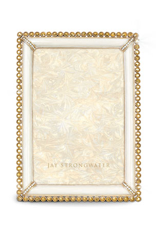 """Jay Strongwater Stone-Edge 4"""" x 6"""" Picture Frame"""
