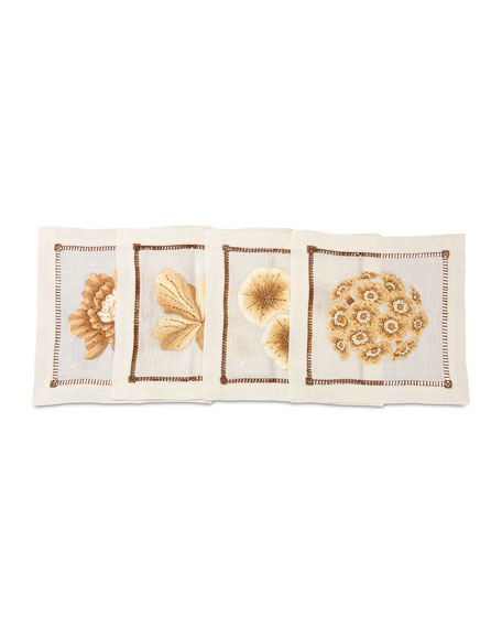 Jay StrongwaterFloral Cocktail Napkins, 4-Piece Set