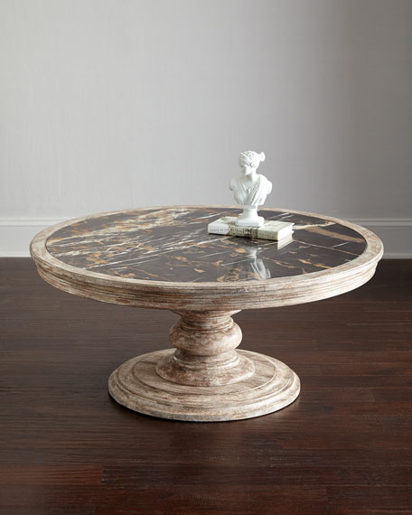 Thia Marble-Top Coffee Table