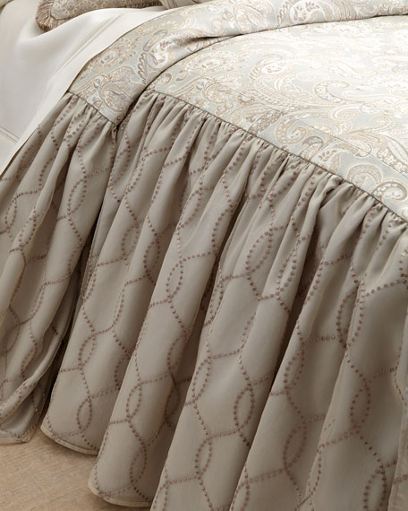 Dian Austin Couture Home King Cynthia Skirted Coverlet