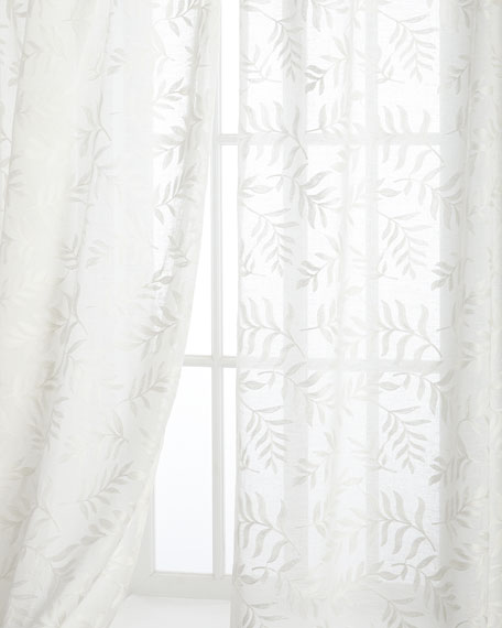 "Each 52""W x 108""L Garden Affair Sheer"