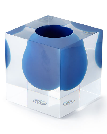 Jonathan Adler Bel Air Cobalt Mini Scoop Vase