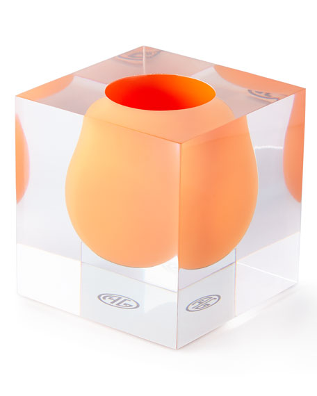 Jonathan Adler Bel Air Orange Mini Scoop Vase