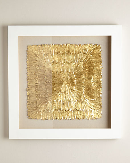 Golden Feather Spaturral Wall Decor