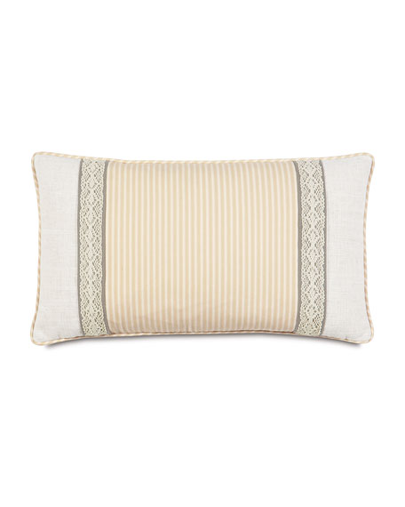 "Heirloom Bolster Pillow, 15"" x 26"""