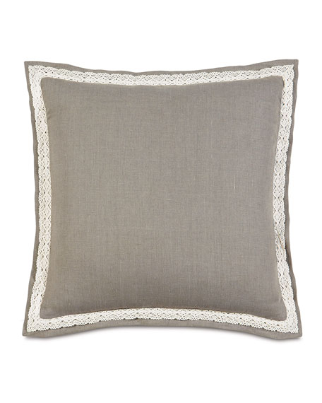 "European Breeze Linen Pillow, 27""Sq."