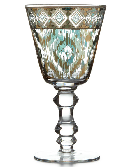 Patina Vie Mint Twist Goblets, Set of 4