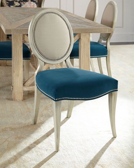 Massoud Paige Linen Dining Chair