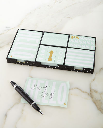 Sticky Note Set, Deco Dots