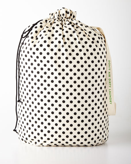 kate spade new york Black Dots Laundry Bag