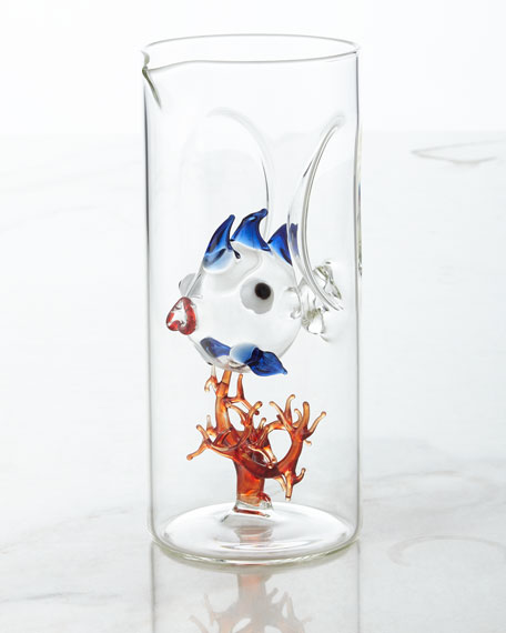 Massimo Lunardon Fish with Coral Carafe