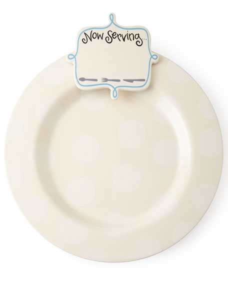 Happy Everything Big Platter with Now Serving Attachment, Plain