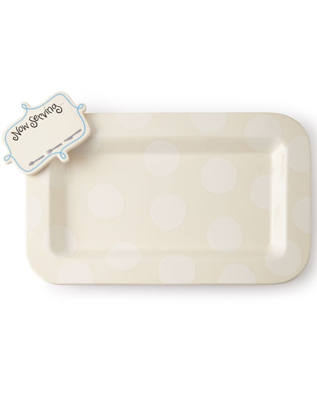 Happy Entertaining Mini Platter with Now Serving Attachment, Plain