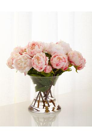 John-Richard Collection Peonies N Pink Faux-Floral Arrangement