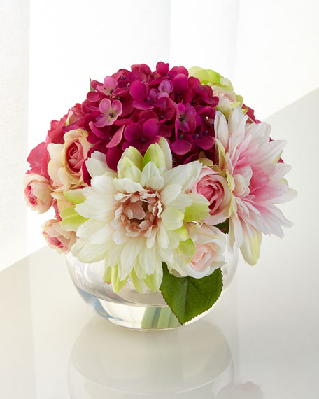 John-Richard Collection Raspberry Swirl Faux-Floral Arrangement