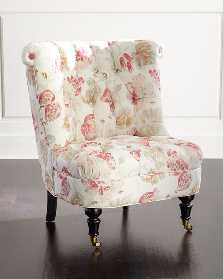 Dusty Rose Tufted Chair Neiman Marcus