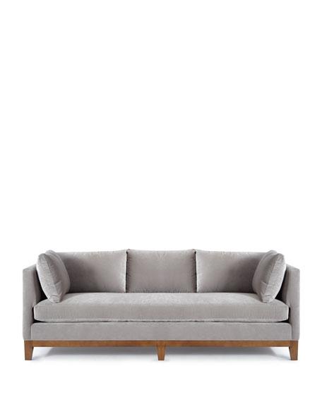 Smoke Shadow Velvet Sofa