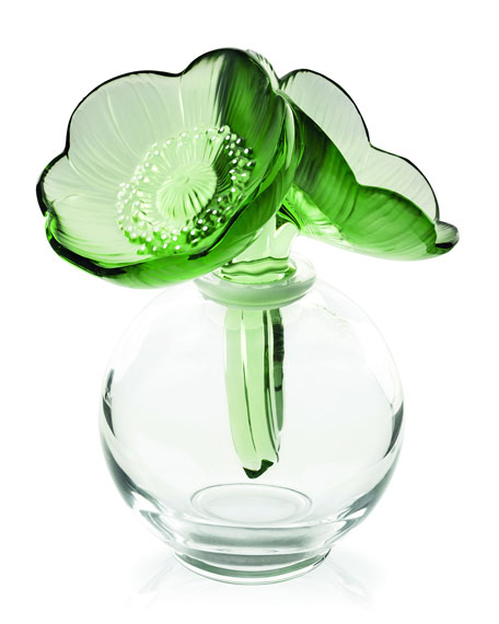 Lalique Green Anemones Flacon