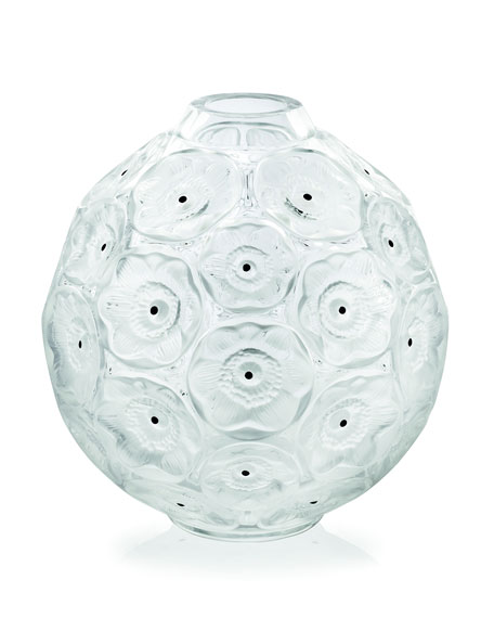 Lalique Clear Anemones Bud Vase