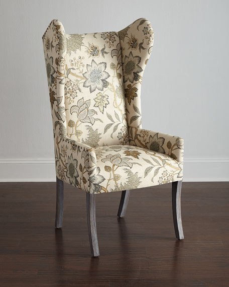 Hooker Furniture Floral Wing Chair, Julissa Banquette, Donabella