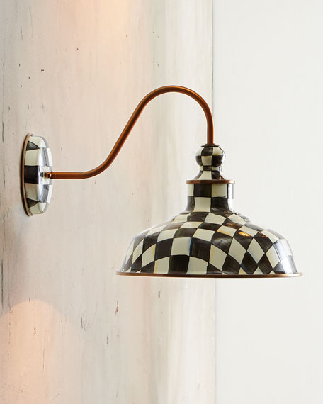 """Courtly Check 12"""" Barn Sconce"""