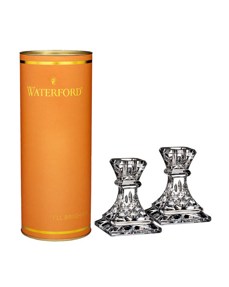 Waterford Giftology Lismore Candlesticks, Set of 2